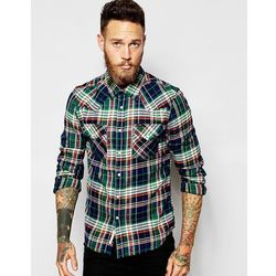 Lee Shirt Slim Fit Western Flannel Check - Green