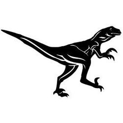 Szablon malarski z tworzywa, wielorazowy, wzór dla dzieci 26 - dinozaur Velociraptor