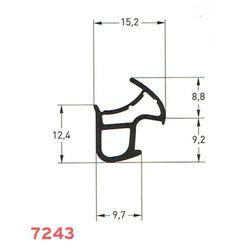 Uszczelka do drzwi metalowych S-7243 czarna