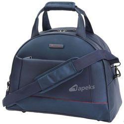 b64c93b15f222 Puccini Amsterdam torba podróżna kabinowa na ramię - tablet   granatowa -  granatowy