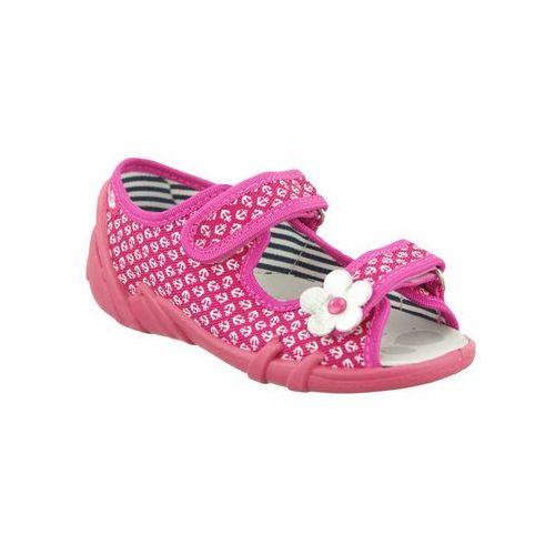 6ce1499f REN BUT 33-378 S-0809 amarant kotwiczki, kapcie sandałki dziecięce, rozmiary