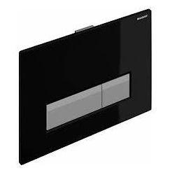 Geberit zestaw wykończeniowy z przyciskiem Sigma40 do stelaża do WC z odciągiem szklo czarne 115.600.SJ.1