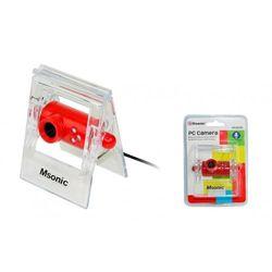 Kamera internetowa z mikrofonem MSONIC USB 2.0, 3 LED, MR1803R czerwona