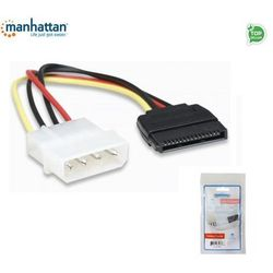 Kabel adapter zasilania Manhattan Molex/SATA 4/15, 0,16m