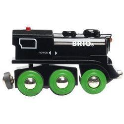 BRIO Czarna lokomotywa z akumulatorkiem oraz napędem na 4 koła
