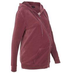 15d57509 Bluza ciążowa z dzianiny welurowej nicki bonprix czerwony klonowy