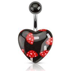 piercing Body Art NAD-1114 - Mushroom Heart