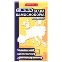 Europa. Mapa samochodowa
