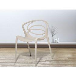Krzeslo do ogrodu bezowe- krzeslo do jadalni, do salonu - BEND