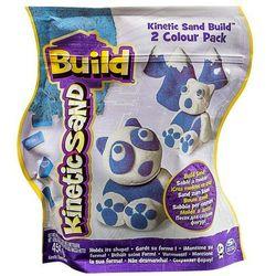 Kinetic Sand Build - piasek konstrukcyjny 2 kolory niebieski-biały 454g