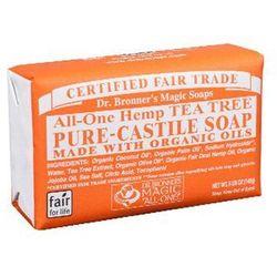 Mydlo kastylijskie w kostce drzewo herbaciane - Dr. Bronner