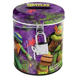 Starpak, Wojownicze Żółwie Ninja, skarbonka metalowa, okrągła Darmowa dostawa do sklepów SMYK