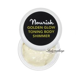 Nourish - GOLDEN GLOW TONING BODY SHIMMER - Rozśwetlający balsam do ciała z drobinami - 2 ml - 2 ml