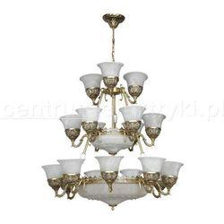 NOWODVORSKI KORYNT XXIV LAMPA WISZĄCA 24X60W 230V E27 BIAŁY+ZŁOTY żarówki LED gratis!