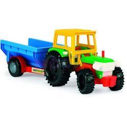 Traktor z przyczepą transportową wywrotką Color Cars Wader