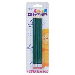 Zestaw 4 zielone ołówki Color Creative