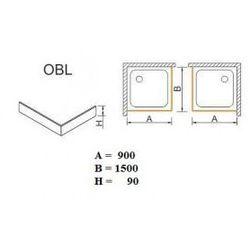 SANPLAST obudowa do brodzików Space Mineral do zabudowy narożnej OBL 90x150x9 625-400-1580-01-000