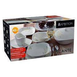 Porcelanowy komplet obiadowy ALICANTE 43 elem.