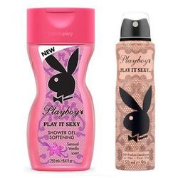 Playboy Play It Sexy Zestaw dezodorant 150 ml spray + żel pod prysznic 250 ml
