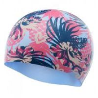 TYR CZEPEK PINEAPPLE PUNCH SWIM CAP SILICONE CAP PINK-PURPPLE