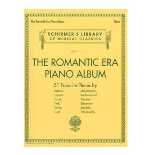 Schirmer's Library Of Musical Classics Volume 2121: The Romantic Era (Piano Album)
