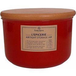 Ceramiczny pojemnik kuchenny Emile Henry czerwony