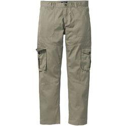 Spodnie bojówki Regular Fit bonprix khaki