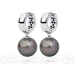 FC Kolczyki z perłą wiszące 3061221048 PM 12 kolor jasny srebrny