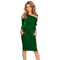 677b27313c suknie sukienki czerwona dopasowana sukienka midi z dekoltem na ...