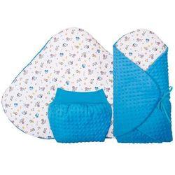 Glück Baby, Rożek niemowlęcy z kieszenią kangaroo, Piesek-Minky, Niebieski Darmowa dostawa do sklepów SMYK