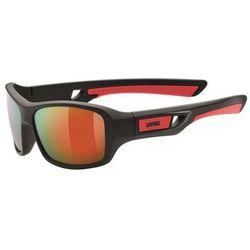 Dziecięce sportowa okulary Uvex Sportstyle 505 black mat red (2316)