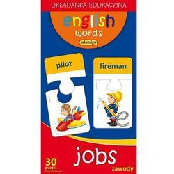 English words. Jobs. Zawody. Układanka edukacyjna (30 puzzli 2-elementowych)
