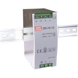 Zasilacz na szynę DIN Mean Well DR-75-24, 24 V/DC, 3.2 A, 76.8 W, 1 x