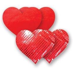 Nakładki na sutki bieliźniane - Nippies Solid Red Heart