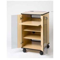 Liesegang szafka projekcyjna Basic ze szklanymi drzwiami i drzwiami rewizyjnymi - buk