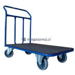 Wózek platformowy jednoburtowy. Poręcz spawana. Wym. 1000x600mm (Ładowność: 300kg)
