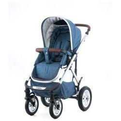 MOON Wózek wielofunkcyjny Lusso design 976 indigo blue melange zgondolką 3 w 1