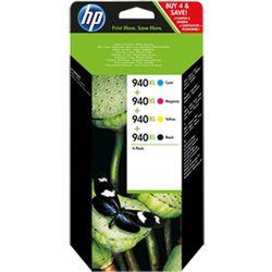 Zestaw tuszy HP 940XL / C4907AE CMYK do drukarek (Oryginalny) [16 ml] - 4 szt.