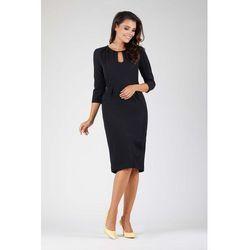 5b660bfd73 suknie sukienki czarna dopasowana sukienka z koronka wyciete plecy ...