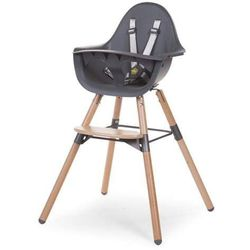 Krzesło do karmienia Evolu 2 - Natural - Anthracite / drewniane z antracytem