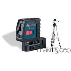 GLL 2-15 w zestawie ze statyw korbowy BT150 laser krzyżowy Bosch