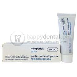 ZIAJA MINTPERFECT ACTIV pasta 75ml - remineralizacyjna pasta do zębów zawierająca płynne szkliwo i fluor