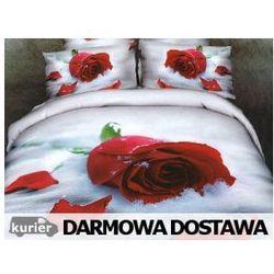 Pościel Czerwona Róża 3D 160 x 200 / 220 x 200 cm