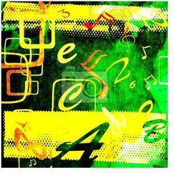 Fototapeta abstrakcyjny wzór z nut