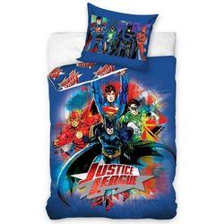 Tip Trade Dziecięca pościel bawełniana Justice League, 140 x 200 cm, 70 x 80 cm