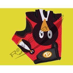 07-130871 Rękawiczki kolarskie AUTHOR JUNIOR Pinguin dziecięce czerwono-czarne M