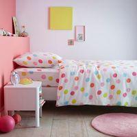 Komplet pościeli dziecięcej: poszwa na kołdrę + poszewka na poduszkę, 50% bawełny, 50% poliestru, Multico Dots