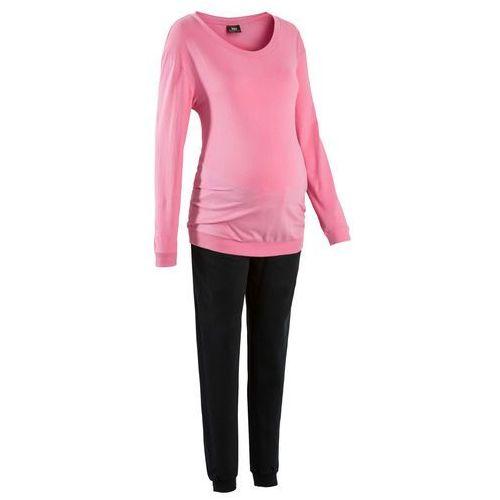 8019d8c3812c8b Piżama dla ciężarnych bonprix jaskrawy jasnoróżowy - czarny ...