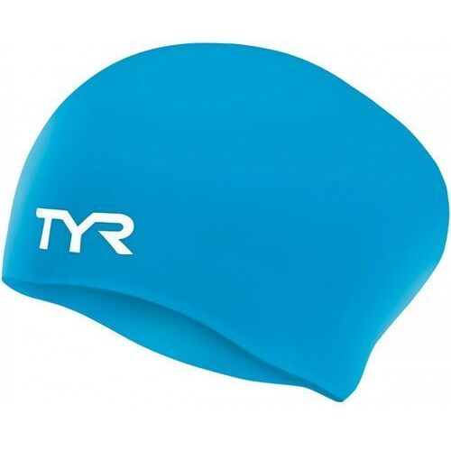 TYR CZEPEK NA DŁUGIE WŁOSY WRINKLE-FREE LONG HAIR SWIM CAP BLUE