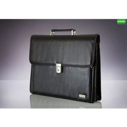 Skórzana męska aktówka, torba na laptop Verso Business Traditional